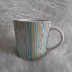 Starbucks 2005 Vertical Stripe Coffee Mug